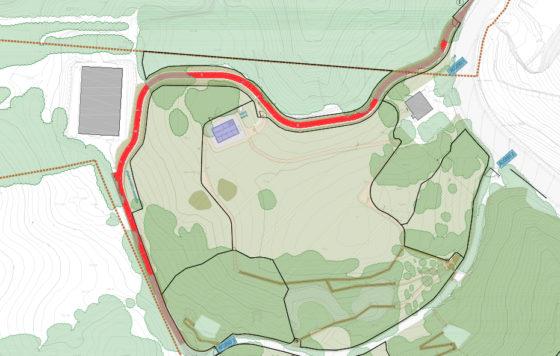 Cyclist-pedestrian track in Kutxa Ekogunea Parkea